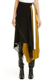 Proenza Schouler Asymmetrical Side Pleat Crepe Skirt   Nordstrom at Nordstrom