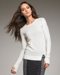 Proenza Schouler Button-Shoulder Knit Sweater at Neiman Marcus