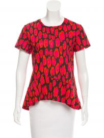Proenza Schouler Ikat Print Asymmetrical Top at The Real Real