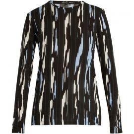 Proenza Schouler Ikat stripe-print long-sleeved cotton T-shirt  at Net a Porter