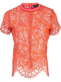 Proenza Schouler Lace Short Sleeve Top - Farfetch at Farfetch