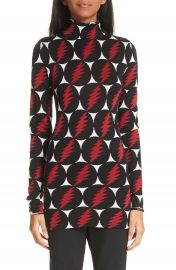 Proenza Schouler Lightning Print Silk Sweater at Nordstrom