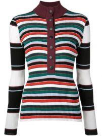 Proenza Schouler PSWL Rugby Striped Turtleneck Sweater - Farfetch at Farfetch
