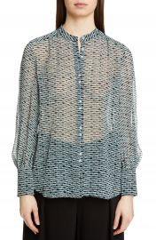Proenza Schouler Print Crepe Chiffon Blouse   Nordstrom at Nordstrom