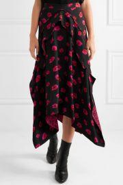 Proenza Schouler Printed georgette skirt at Net A Porter