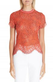Proenza Schouler Scalloped Stretch Lace Top   Nordstrom at Nordstrom