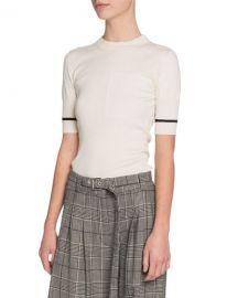 Proenza Schouler Short-Sleeve Crewneck Sweater at Bergdorf Goodman