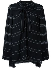 Proenza Schouler Striped Pussybow Top at Farfetch