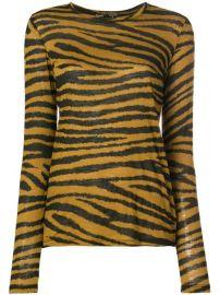 Proenza Schouler Tiger Print Long Sleeve T-Shirt - Farfetch at Farfetch
