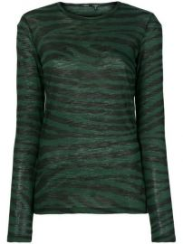 Proenza Schouler Tiger Print Long Sleeve T-Shirt - Farfetch at Farfetch