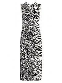 Proenza Schouler White Label - Animal Mix Jacquard Dress at Saks Fifth Avenue