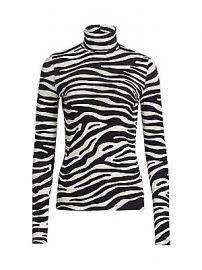 Proenza Schouler White Label - Zebra Jersey Turtleneck Top at Saks Fifth Avenue