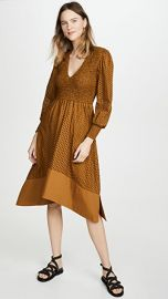 Proenza Schouler White Label Long Sleeve Smocked Top Dress at Shopbop