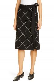 Proenza Schouler Windowpane Check Knit Wrap Skirt   Nordstrom at Nordstrom
