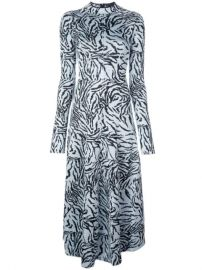 Proenza Schouler Zebra Jacquard Long Sleeve Dress - Farfetch at Farfetch