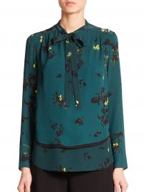 Proenza schouler Floral Silk Tie-neck Blouse at Saks Fifth Avenue