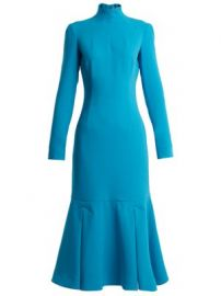 Prudence high-neck double-crepe dress at Matches