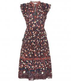 Prunella floral cotton midi dress at Mytheresa