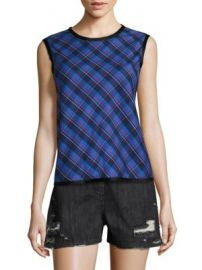 Public School - Cotton Dalya Abia Plaid Tank Top at Saks Off 5th