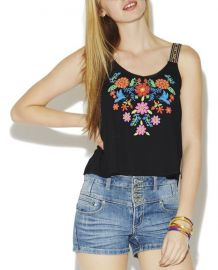 Puff Floral Tank at Wet Seal