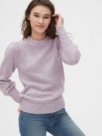 Puff Sleeve Crewneck Sweater at Gap