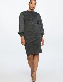 Puff Sleeve Metallic Dress at Eloquii