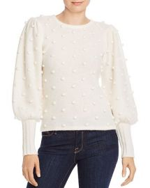 Puff-Sleeve Popcorn Cashmere Sweater at Bloomingdales