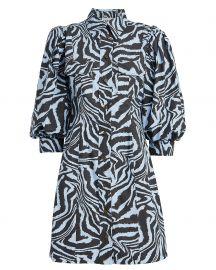 Puff-sleeve zebra-print cotton dress at Matches