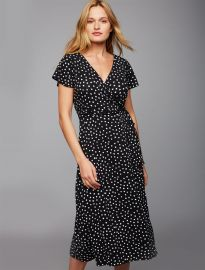 Pull Down Dot Nursing Dress at A Pea in the Pod