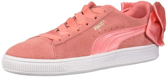 Puma Suede Bow Sneakers at Amazon