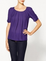 Purple Joie blouse worn by Robin on HIMYM at Piperlime