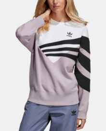 Purple Originals Bossy 90s Cropped Sweatshirt by Adidas at Macys