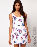 Purple and white floral dress at Asos