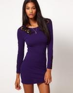 Purple bodycon dress at ASOS at Asos