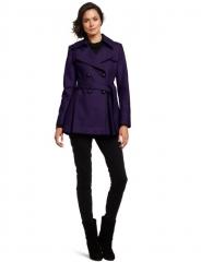 Purple coat by Via Spiga at Amazon