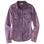 Purple denim shirt at Target at Target