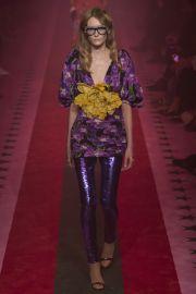 Purple floral dress at Vogue