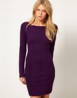 Purple longsleeve dress from ASOS at Asos