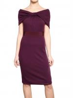 Purple off shoulder dress at Luisaviaroma