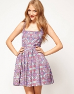 Purple paisley dress at ASOS at Asos