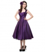 Purple regionals dress on Glee at Unique Vintage