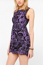 Purple rose print dress by Motel at Urban Outfitters