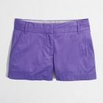 Purple shorts at J Crew at J. Crew