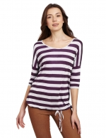 Purple striped tee by Kensie at Amazon