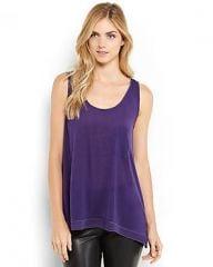 Purple tank top at Century 21