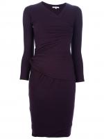 Purple wrap dress by Carven at Farfetch