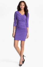 Purple wrap style dress at Nordstrom