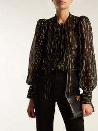 Pussy-bow metallic blouse by Givenchy at Matches