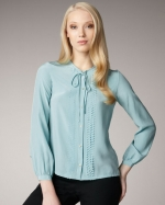 Pwerleena blouse by DvF at Neiman Marcus