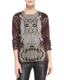 Python-Print Cashmere Knit Sweater at Neiman Marcus